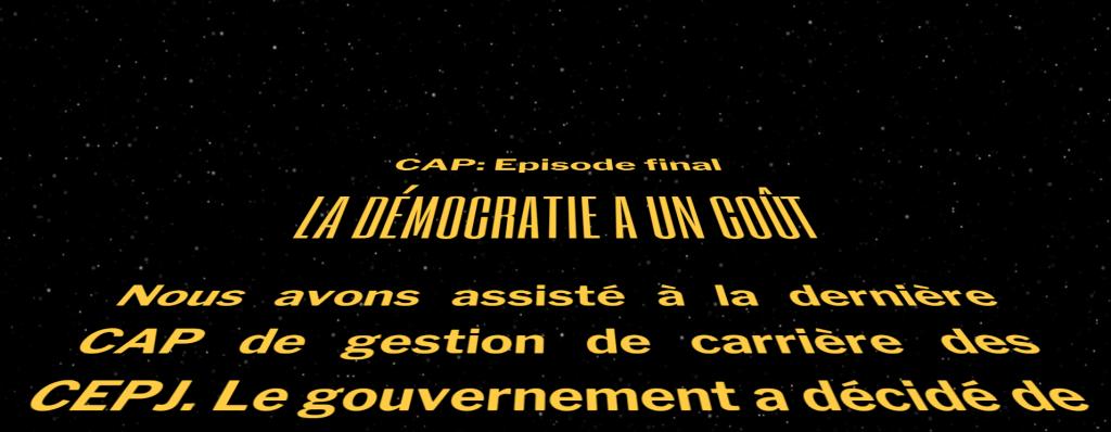 CAP: fin de la démocratie